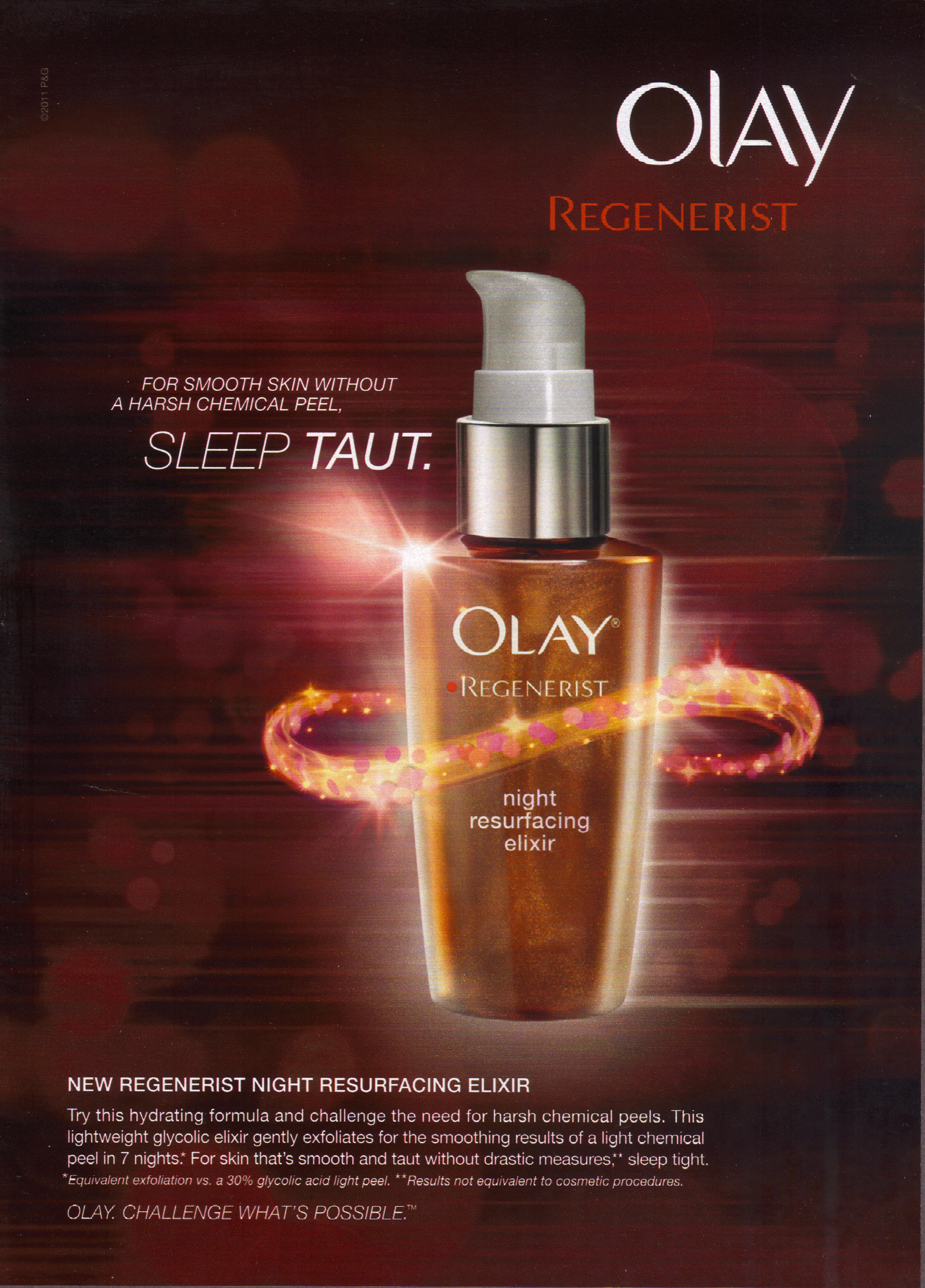 olay ad Olay regenerist may be able to restore the youthful look to your skin with regular application.